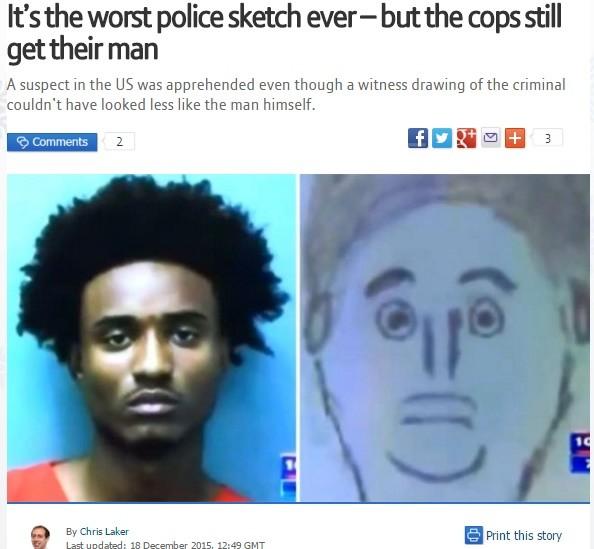 マンガ? 犯人の似顔絵が話題に
