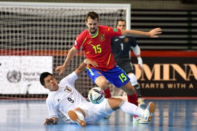フットサルW杯でスペインと日本が対戦した [写真]=Getty Images