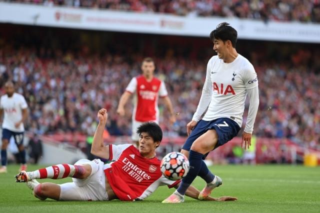 冨安はダービーでも抜群の存在感 [写真]=Tottenham Hotspur FC via Getty Images