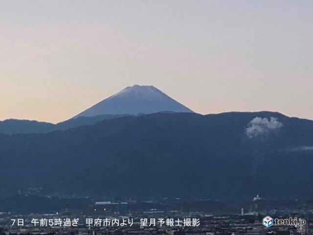 今シーズンの「富士山の初冠雪」 異例の見直しに 理由は?
