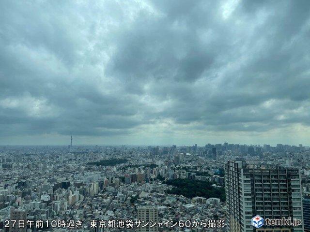 東京都心の日照時間 3日ぶりに1時間超 最高気温25℃くらいまで上がる予想