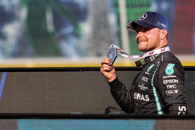 2021年F1第14戦イタリアGP スプリント予選をトップで終えたバルテリ・ボッタス(メルセデス)