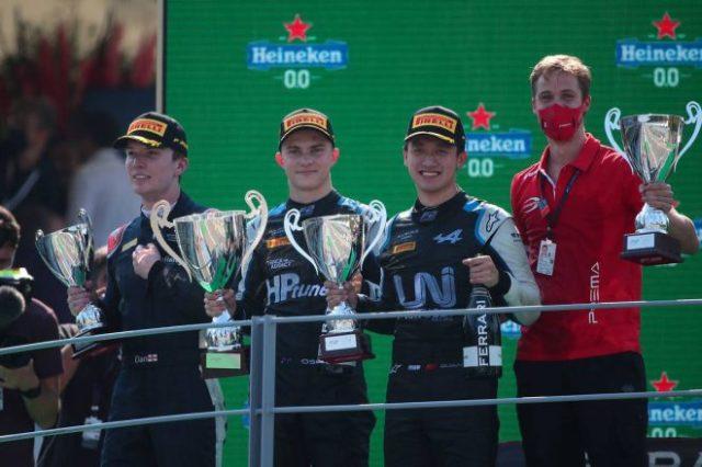 2021年FIA-F2第5戦イタリア レース3 アルピーヌ育成のオスカー・ピアストリ(プレマ・レーシング)がシーズン2勝目を挙げ、周冠宇(ユニ・ヴィルトゥオーシ)が2位に入賞した