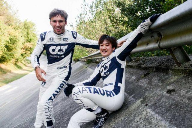 2021年F1第14戦イタリアGP 角田裕毅、ピエール・ガスリー(アルファタウリ・ホンダ)