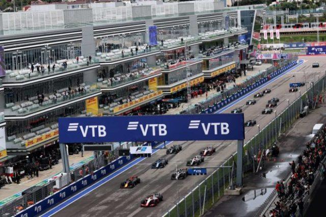 FIA-F2第6戦ロシア レース3 スタートシーン