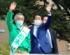 松本純候補の応援演説をする安倍元首相(松本純公式サイトより)