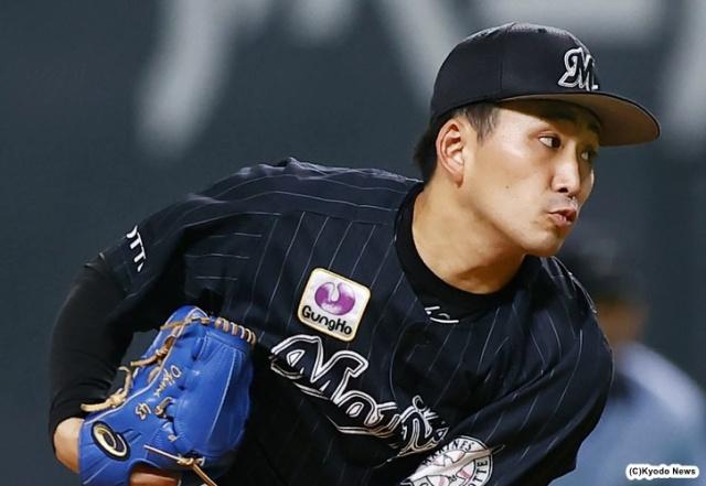 ロッテ・小島和哉 (C)Kyodo News