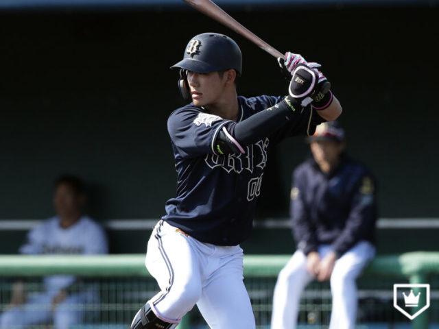 オリックス・西浦颯大(※写真は2019年春季キャンプ)