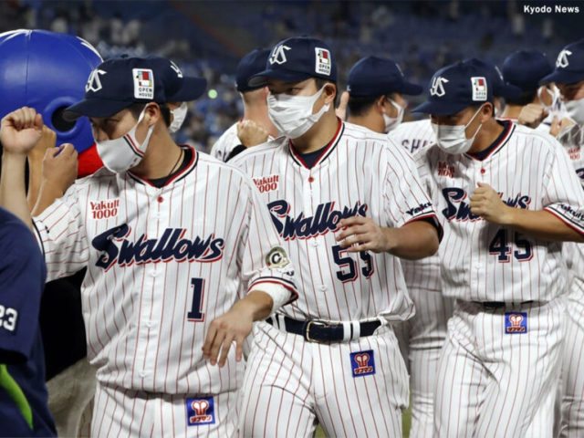 ヤクルトナイン (C) Kyodo News