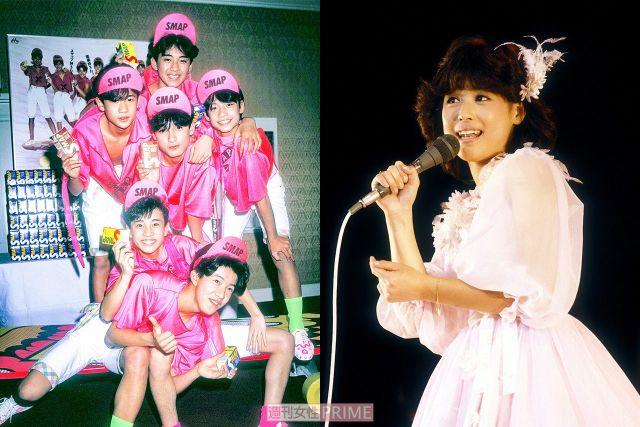 (左から)SMAP、松田聖子