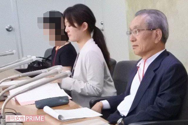 """""""龍角散裁判""""に関する記者会見の様子"""