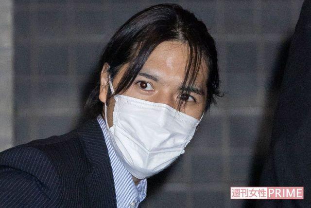 アメリカから横浜市内の実家に帰宅した小室圭さん('21年9月)