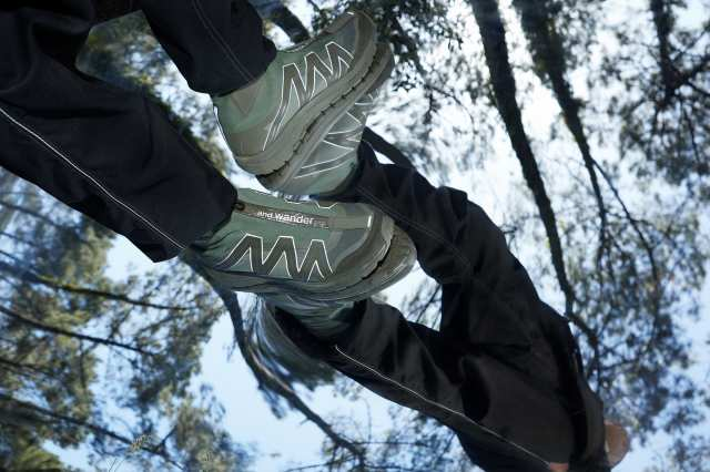 reflective highcut sneakers by SALOMON                    Image by: and wander