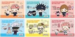 TVアニメ「呪術廻戦」とサンリオキャラクターズのコラボ第1弾で公開されたビジュアル。