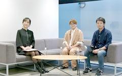 トークプログラムの様子。左から松澤千晶、虫眼鏡(東海オンエア)、松平恒幸氏。